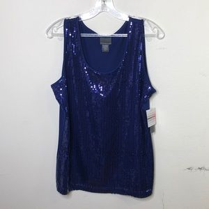 Nwt Royal blue sequins tank top